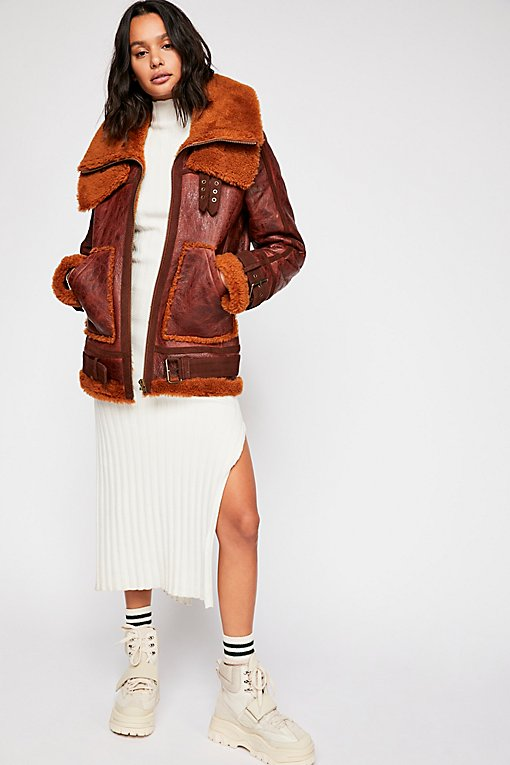 We The Free Maverick Shearling Coat