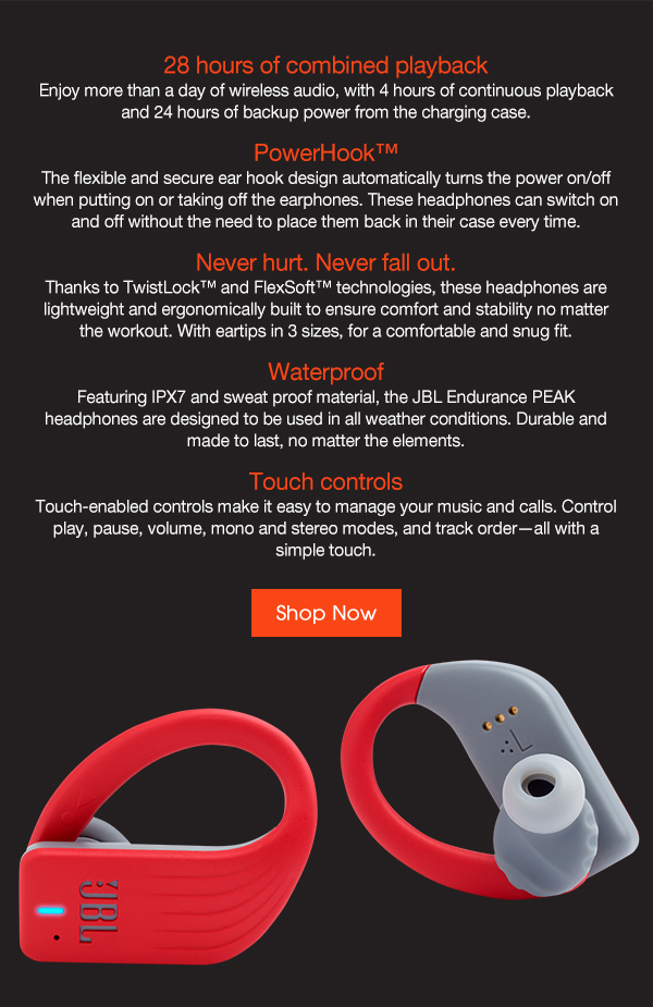 JBL CH: True Wireless Sport Headphones: Meet the Endurance