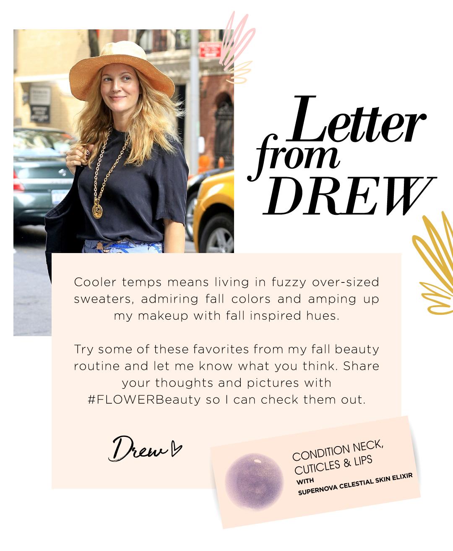 Flower Beauty Letter From Drew Milled
