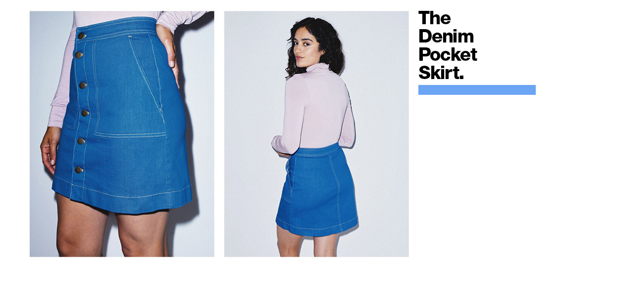 The Denim Pocket Skirt