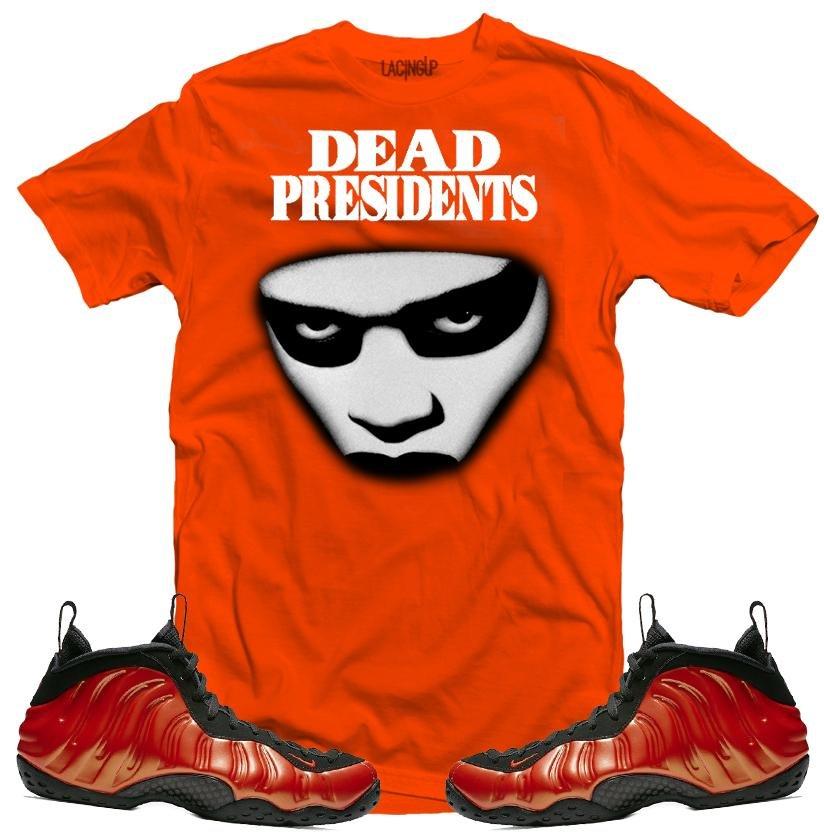 e190d2196002e Nike foamposite habanero dead stare orange tee-Lacing Up
