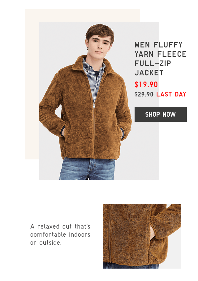 cd9d6b956e8 MEN FLUFFY YARN FLEECE FULL-ZIP JACKET  19.90 - SHOP NOW