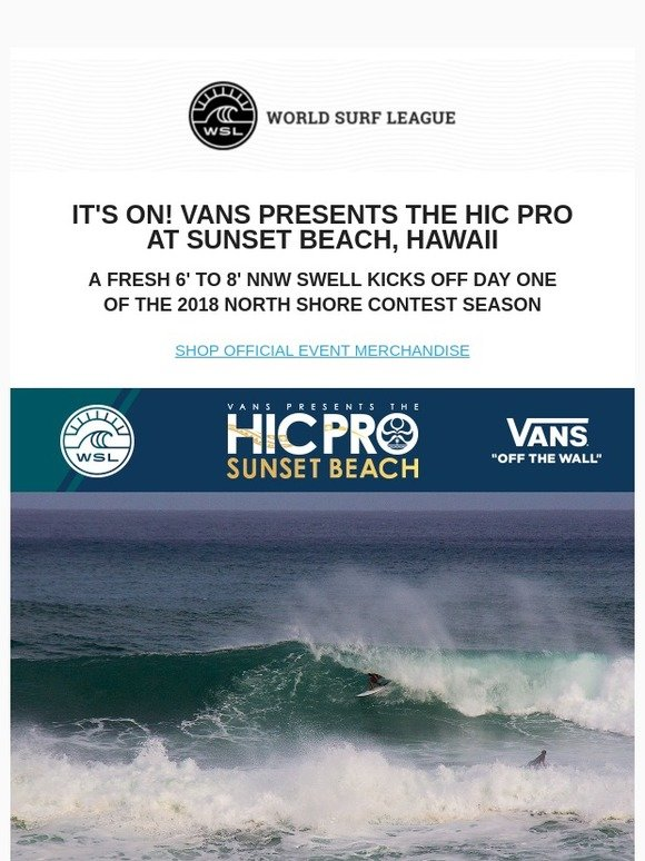a00c820d58 HIC Surf  It s ON! The HIC Pro Kicks Off With Pumping Surf At Sunset Beach