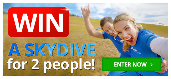 Win a Skydive for 2!