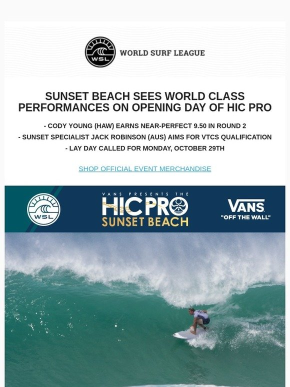 4c0255f41f HIC Surf  SUNSET BEACH SEES WORLD CLASS PERFORMANCES ON OPENING DAY OF HIC  PRO