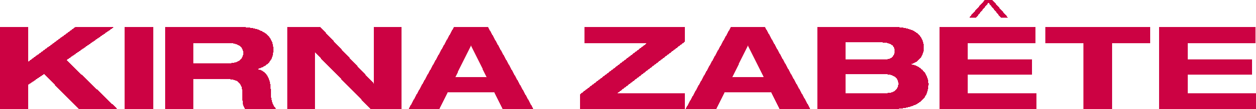 Image result for kirna zabete small red logo in red