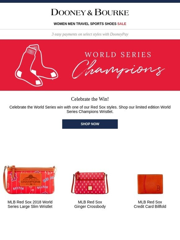 Dooney and Bourke: Go Red Sox! Shop Exclusive World Series