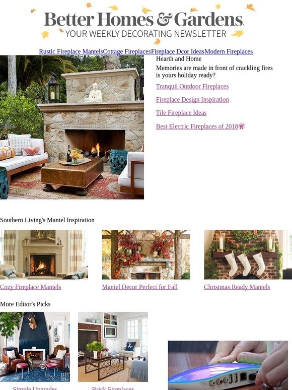 Better Homes And Gardens Fabulous Fireplace Designs Milled