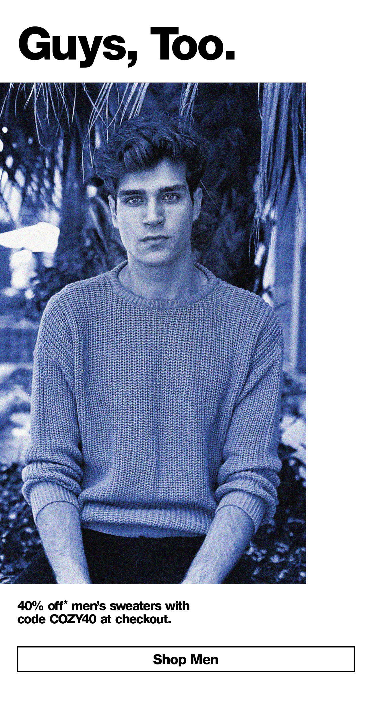 Guy Styles: 40% Off Sweaters