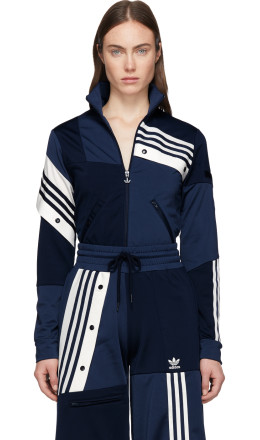 adidas Originals by Danille Cathari - Blue Deconstructed Track Jacket