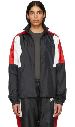 Nike - Black & Red NSW Re-Issue Woven Jacket