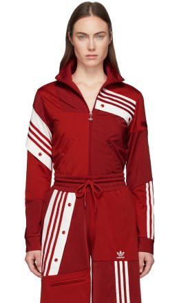 adidas Originals by Danille Cathari - Red Deconstructed Track Jacket