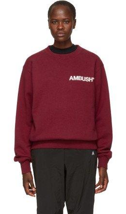 Ambush - SSENSE Exclusive Red Nobo Sweatshirt