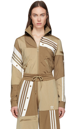 adidas Originals by Danille Cathari - Beige Deconstructed Track Jacket