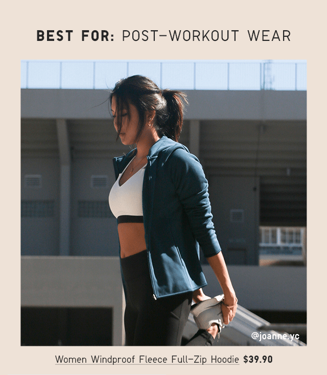BEST FOR: POST-WORKOUT WEAR