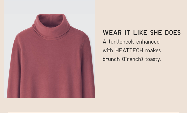 WOMEN HEATTECH FLEECE TURTLENECK $14.90
