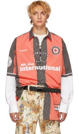 Vetements - Red & Grey Football Shirt