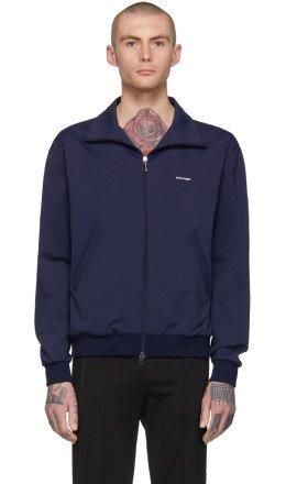 Balenciaga - Navy Small Logo Track Jacket