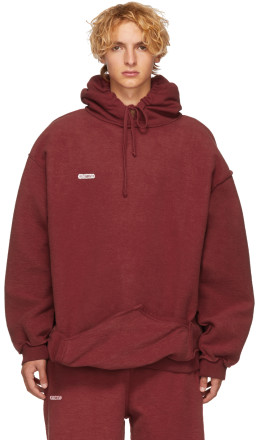 Vetements - Red Shark Inside-Out Hoodie