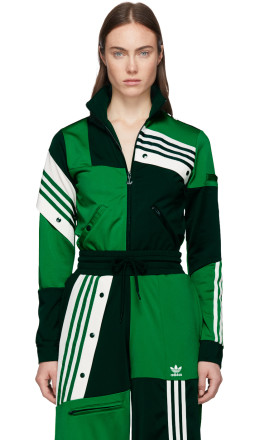 adidas Originals by Danille Cathari - Green Deconstructed Track Jacket