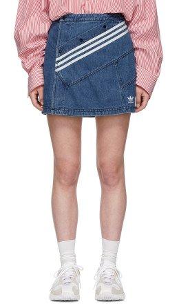 adidas Originals by Danille Cathari - Blue Denim Miniskirt