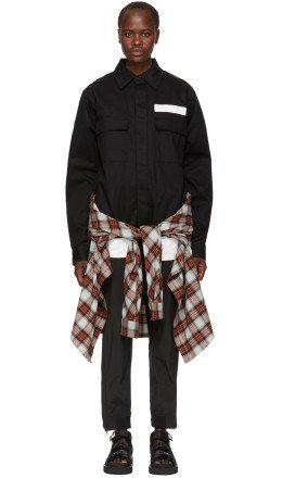Ambush - SSENSE Exclusive Black Nobo Waist Tie Shirt