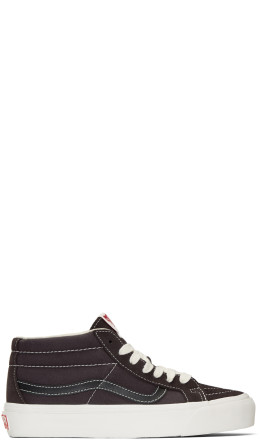 Vans - Brown OG Sk8-Mid LX Sneakers