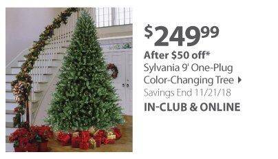 Sylavania One Plug Color Changing Tree