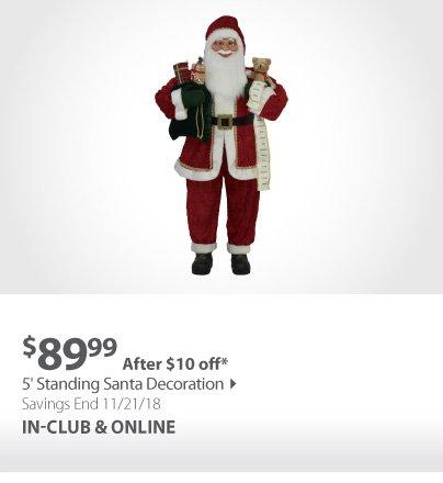 Standing Santa Decoration