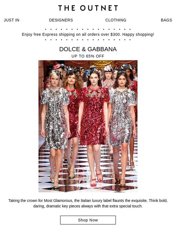 82031304 The Outnet: This week's most wanted: Dolce & Gabbana | Milled