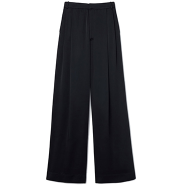 G. Label Kelly Satin Wide-Leg Trousers $595