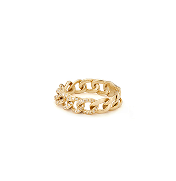 Anne Sisteron Chain Link Light Ring $1,030