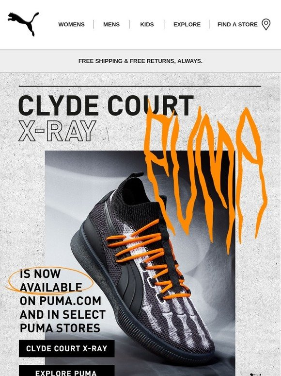 premium selection 3755f 63896 Puma: CLYDE COURT X-RAY. SCREAM-WORTHY. | Milled