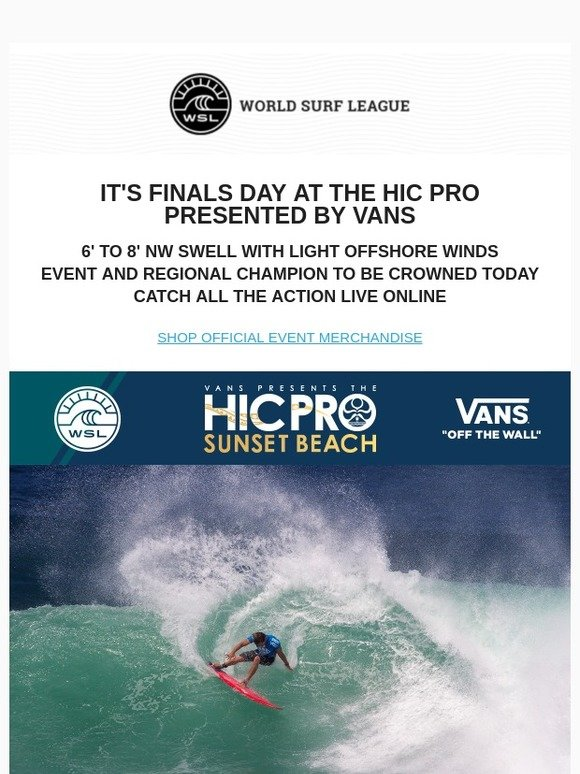 9dc1f4c661 HIC Surf  It s ON! Final Day of the HIC Pro at Sunset Beach - Watch It  LIVE!