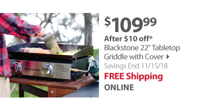 Blackstone 22 Tabletop Griddle with Cover
