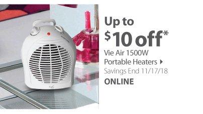 Vie Air 1500W Portable Heaters