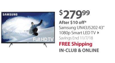 Samsung UN43J5202 43 1080p Smart LED TV