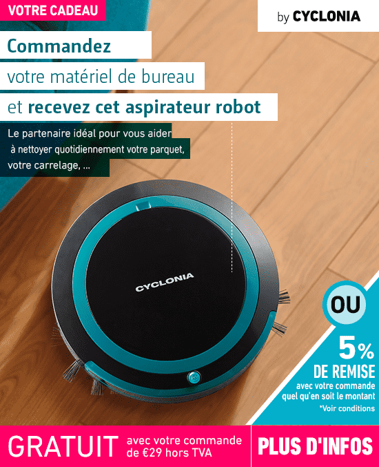Aspirateur Robot Cyclonia : Robot Aspirateur Ultra Slim Black