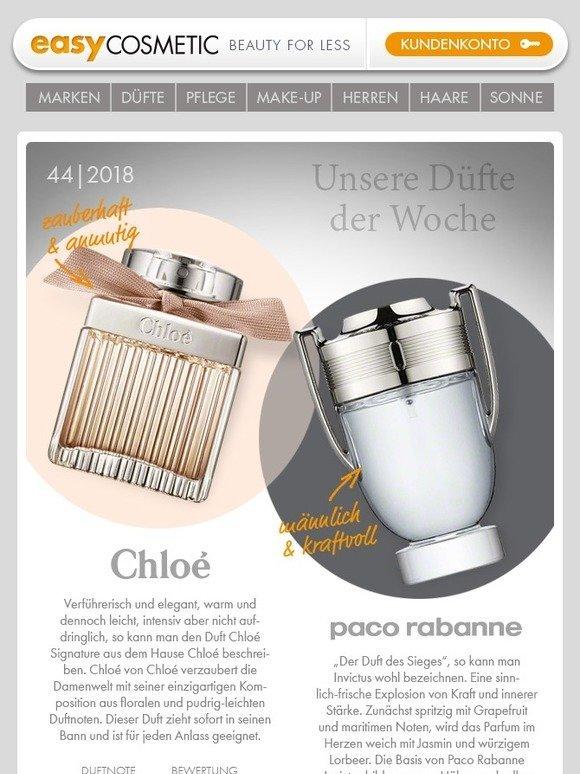 Easycosmeticde I Chloé Und Paco Rabanne Milled