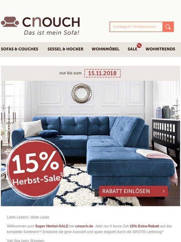 Cnouchde Das Ist Mein Sofa Super Herbst Sale Jetzt 15 Extra
