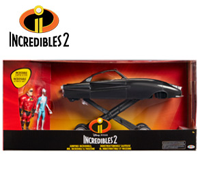 Disney Pixar Incredibles 2 Jumping Incredibile Vehicle with 2 Figures