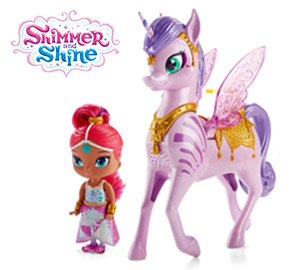 Shimmer and Shine - Shimmer Doll & Magical Flying Zahracorn Playset