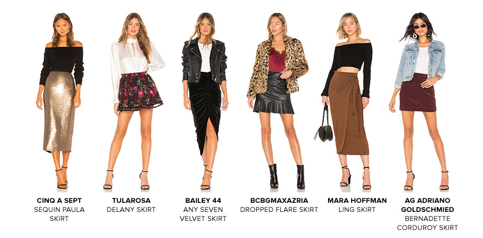 The Skirt Edit. Skirts are having a major moment right now - here are a few of our favorite shapes, and the boots to go with them. Shop Midi Skirts.
