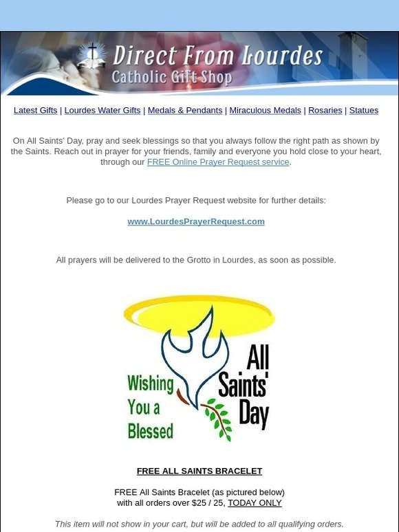 catholic gift shop ltd: Blessed All Saints Day! Request