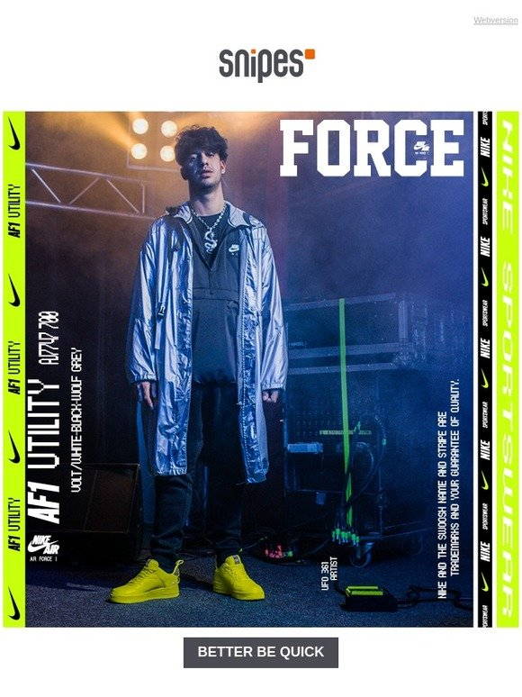 NIKE Air Force 1 Utility presented by