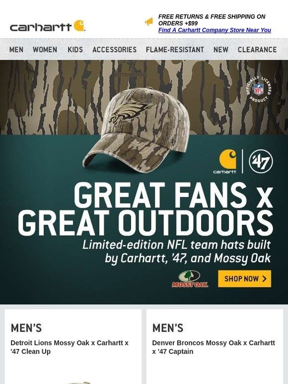 d87f59466 Carhartt: NFL team hats built for the fan of the outdoors | Milled
