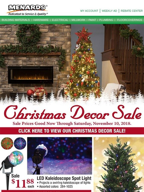 menards deck the halls with christmas deals milled