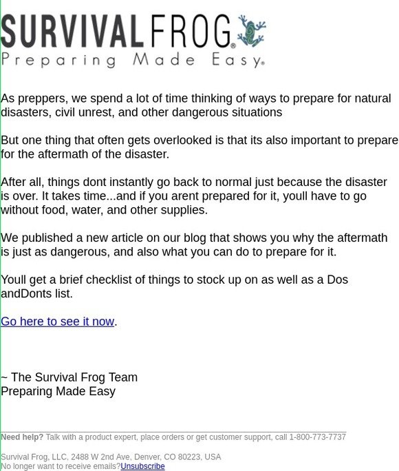 a8e5d0ae7c64 Survival Frog  What to Do After a Disaster is Over