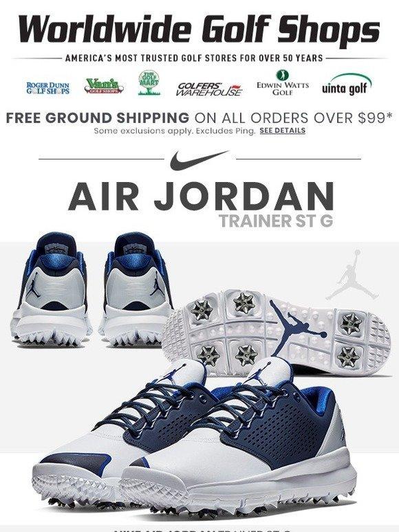 32ccd8305135 Edwin Watts Golf  👟 NOW AVAILABLE  Nike Air Jordan Trainer ST G Golf Shoe!  👟
