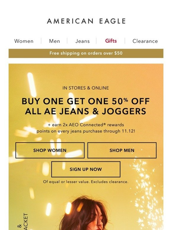 3cedbcde268 aerie  BOGO 50% off jeans   joggers + softness that ll knock your socks off